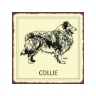Collie Dog Metal Art Sign