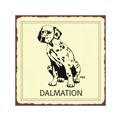 Dalmation Dog Metal Art Sign