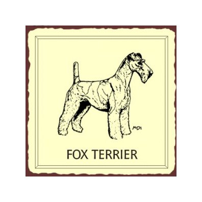Fox Terrier Dog Metal Art Sign