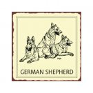 German Shepherd Dog Metal Art Sign