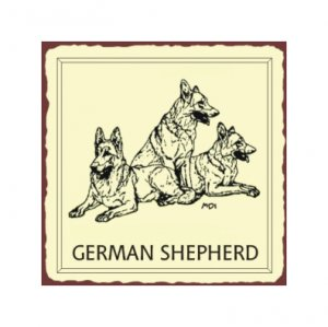 German Shepherd Dog Metal Art Sign