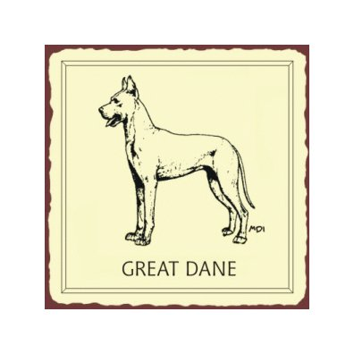 Great Dane Dog Metal Art Sign