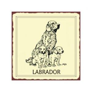 Labrador Dog Metal Art Sign