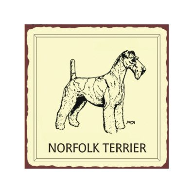 Norfolk Terrier Metal Art Sign