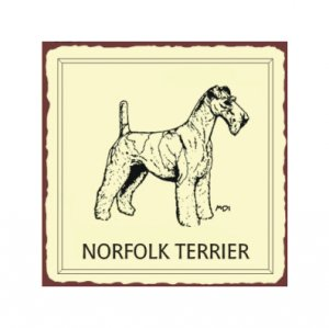 Norfolk Terrier Metal Art Sign