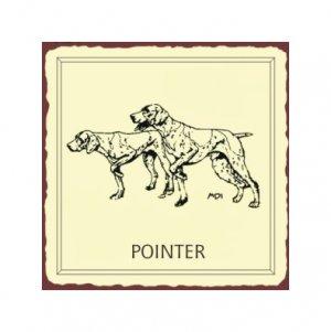 Pointer Dog Metal Art Sign
