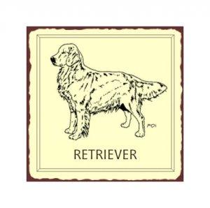 Retriever Dog Metal Art Sign