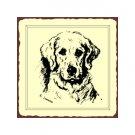 Retriever Dog Sketch Metal Art Sign