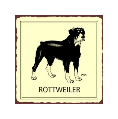 Rottweiler Dog Metal Art Sign
