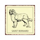Saint Benard Dog Metal Art Sign