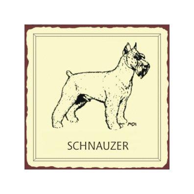 Schnauzer Dog Metal Art Sign