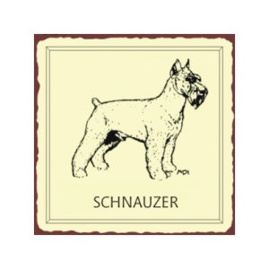 Schnauzer Dog Metal Art Sign