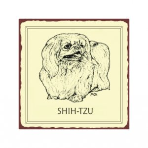 Shih-tzu Dog Metal Art Sign