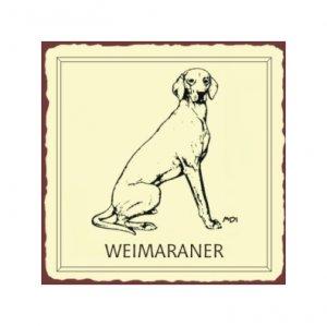 Weimaraner Dog Metal Art Sign