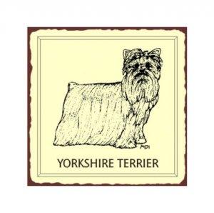 Yorkshire Terrier Dog Metal Art Sign