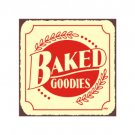Baked Goodies Metal Art Sign