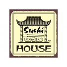 Sushi Chef Metal Art Sign