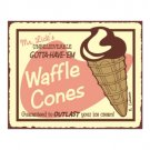 Mr. Lick's Waffle Cones Metal Art Sign
