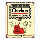 Fried Chicken Made to Order Metal Art Sign