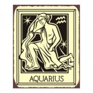 Aquarius Zodiac Metal Art Sign