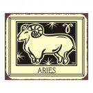Aries Zodiac Metal Art Sign