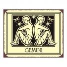 Gemini Zodiac Metal Art Sign