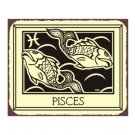 Pisces Zodiac Metal Art Sign