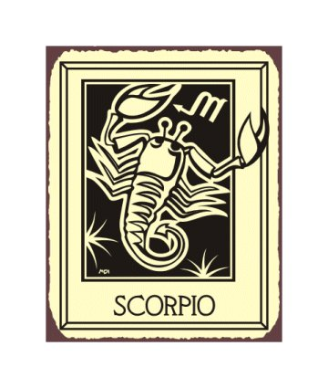 Scorpio Zodiac Metal Art Sign
