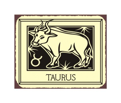 Taurus Zodiac Metal Art Sign