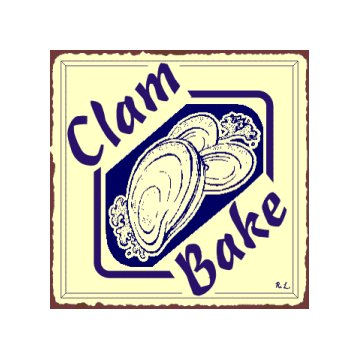 Clam Bake Metal Art Sign