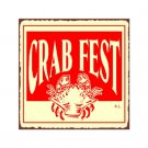 Crab Fest Metal Art Sign