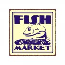 Fish Market Metal Art Sign