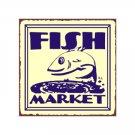 Fish Market Metal Art Sign