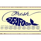 Fresh Seafood Fish Metal Art Sign