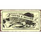 Coves and Saltem Oysters Metal Art Sign