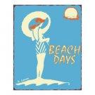 Beach Days Metal Art Sign