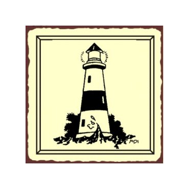 Lighthouse Metal Art Sign
