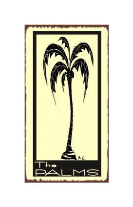 The Palms - Palm Tree - Metal Art Sign