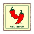 Chili Peppers Metal Art Sign