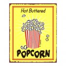 Hot Buttered Popcorn Metal Art Sign