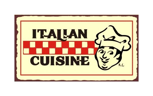 Italian Cuisine Metal Art Sign