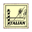 Italian Gondola Metal Art Sign
