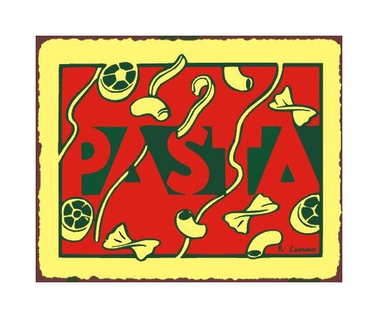 Pasta Metal Art Sign