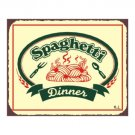 Spaghetti Dinner Metal Art Sign