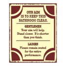 Our Aim is to Keep This Bathroom Clean - Metal Art Sign