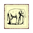 Elephant Metal Art Sign