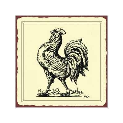 Rooster Metal Art Sign