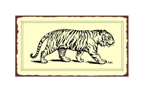 Tiger Metal Art Sign