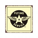 Flying A Service - Airplane Sign - Metal Art Sign