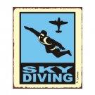 Sky Diving - Airplane Sign - Metal Art Sign